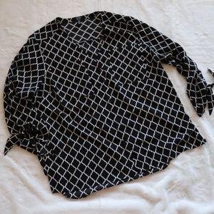 Jones new york printed shirt 1X  C19
